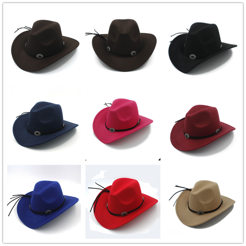 3d722c6c7f5 Fashion Wool Women Men Fedora Hat For Gentleman Western Cowboy Cowgirl Jazz  Cap With DIY Leather Toca Sombrero Cap -in Fedoras from Apparel Accessories  on ...