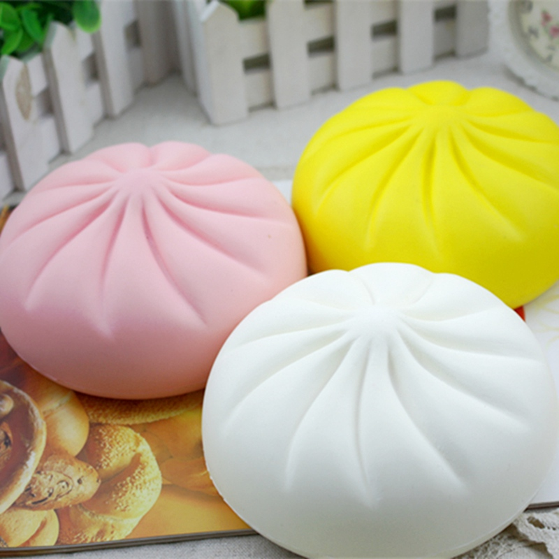 New Jumbo Steamed Bun Squishying 15cm Slow Rising Toy Scented Food Collection Decor Toy Gift For Children