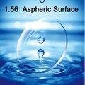 U de visão 1.56 superfície asférica CR39 miopia óculos lentes Anti radiação de 2 pcs/par