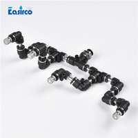 2pcs Pack Reptile Fogger Mister With 4pcs Quick Connecting Nozzle Terrarium Humidity Growing Cabinet Fittings