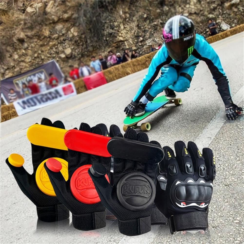 Longboard profesional protección rodillo deslizante fricción monopatín Skate guantes colina Skate Accessoriesg