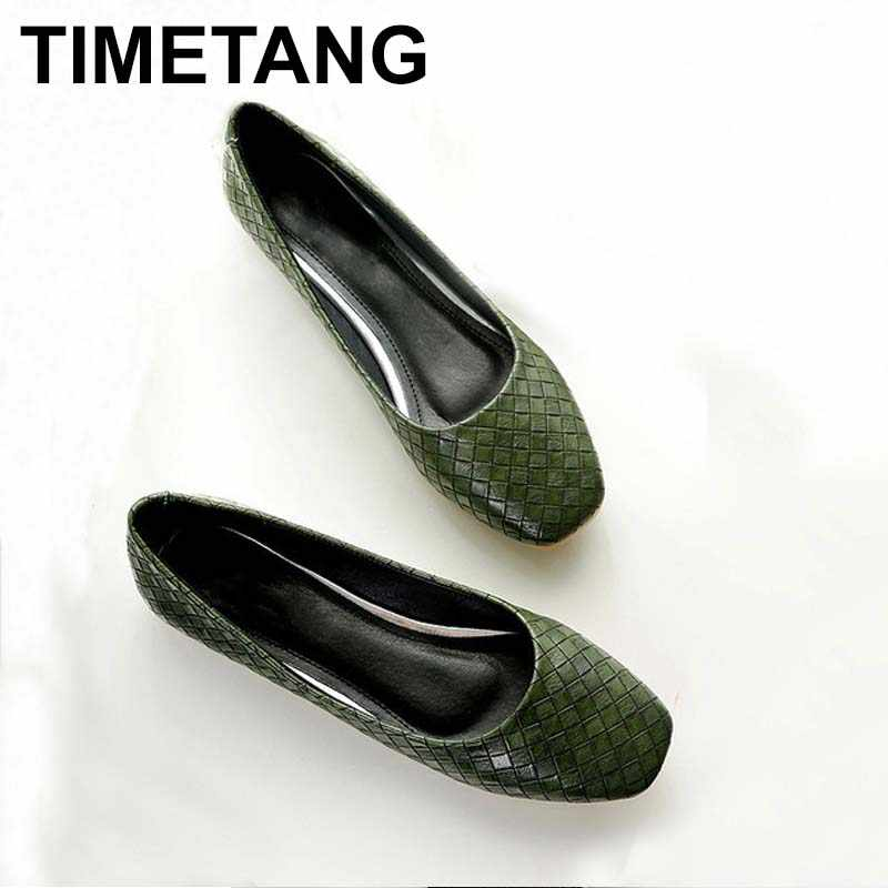 b64be16f780 Detail Feedback Questions about TIMETANG Spring Autumn Women Fashion Anti  slip Ballet Flats Soft Shoes Square Head Flat Heal Shoe Casual Soft Wear  C106 on ...