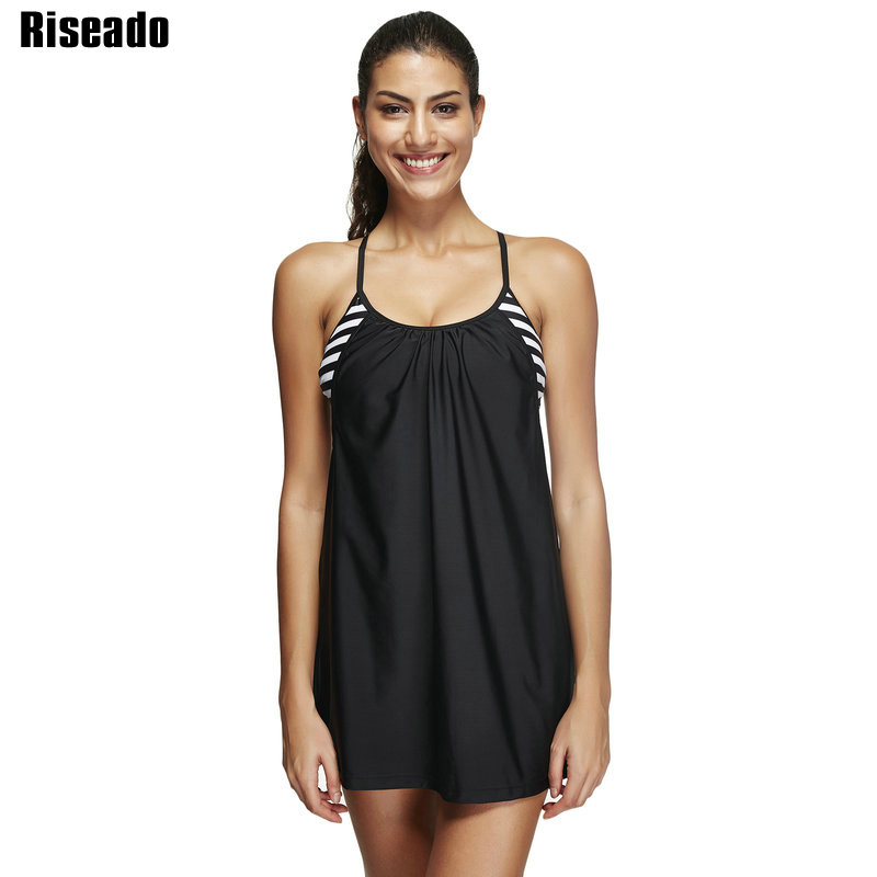 bathing suits for plus size riseado swimwear two swimsuit solid tankini 12382