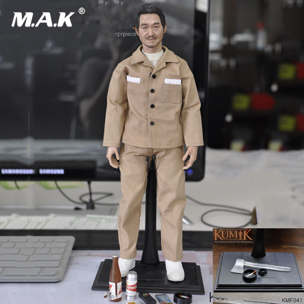 For Collection Custom KUMIK KMF040 1/6 Scale Asian Male Head & Body & Clothes Set & Accessories Action Figure Full Set Toy купить недорого в Москве