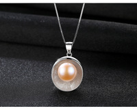 S925 sterling silver natural pearl necklace simple exquisite shell pendant necklace CLS01