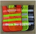 Construcción de malla reflectante chalecos clothing 100% de alta visibilidad de seguridad chaleco reflectante de seguridad envío gratis
