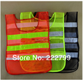 Construction of reflective Mesh vests Safety Clothing 100% high visibility reflective safety vest free shipping