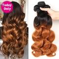 TODAY ONLY 1/3/ 4 Bundles Brazilian Body Wave Bundles Ombre Hair Bundles Brazilian Hair Weave Bundles Remy Human Hair Extensions