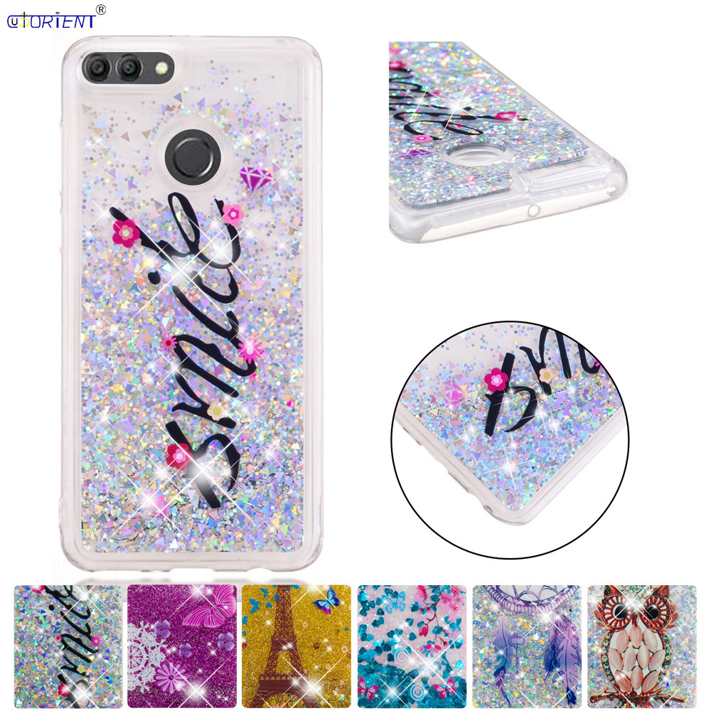 Cellphones & Telecommunications Diplomatic Soft Silicone Back Case For Huawei Y9 2018 Bling Glitter Stars Dynamic Liquid Quicksand Fitted Cover Fla-lx2 Fla-l21 Phone Funda