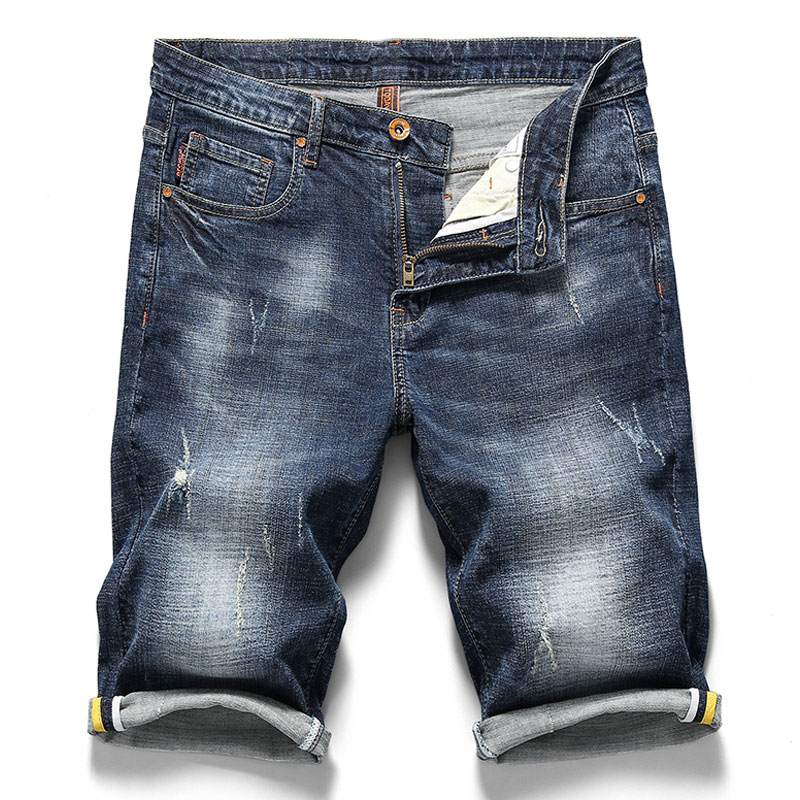Cotton Short Jeans Casual Summer Men's New-Style Fashion Brand Male High-Quality
