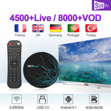 HK1 PLUS Android 8.1 IPTV France Italy Arabic Canada Portugal 4G+64G BT Dual-Band WIFI