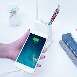 Image 2 - 0   100% Touch Dimmable Led โคมไฟตั้งโต๊ะ USB แบบชาร์จไฟได้ปรับสำหรับเด็กอ่านหนังสือห้องนอนห้องนอนห้องนอน