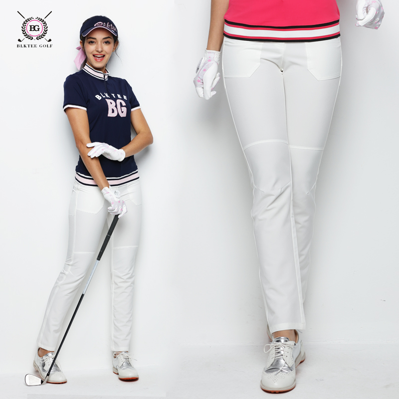 2018 BG New Women's Summer Breathable Golf Pants Dry Fit Long Trousers Pants Slim Sports Thin Pants With Pink Navy White Color цена