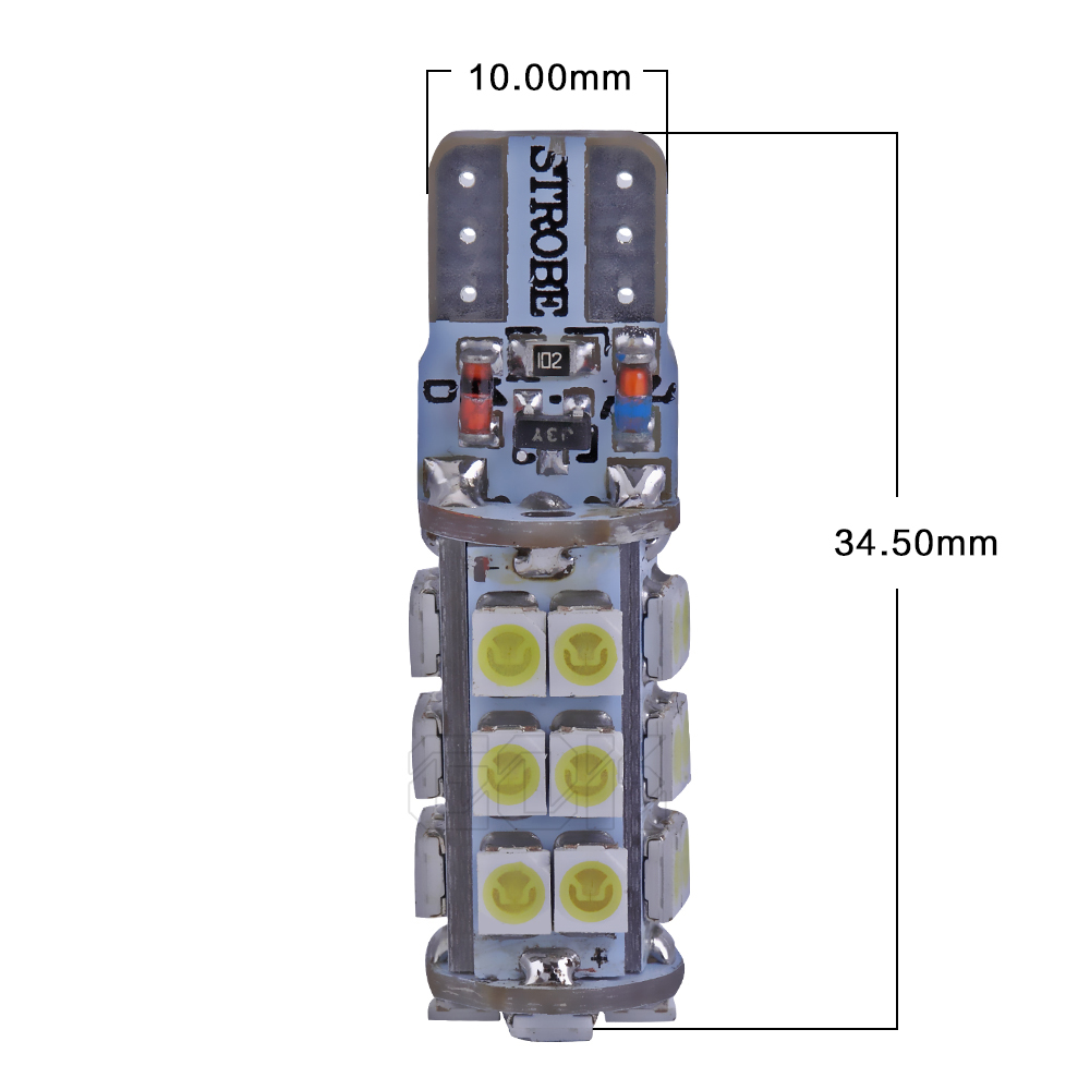 50pcs lot T10 led Strobe flashing W5W T10 28led 1210 smd LED lasting shine auto strobe flash Two mode of Operation Car bulb in Signal Lamp from Automobiles Motorcycles
