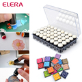 ELERA 40pcs Sponge Finger Daubers With Box+20pcs Finger Painting Color Inkpad Finger Print Painting Painting Drawing Candy Color
