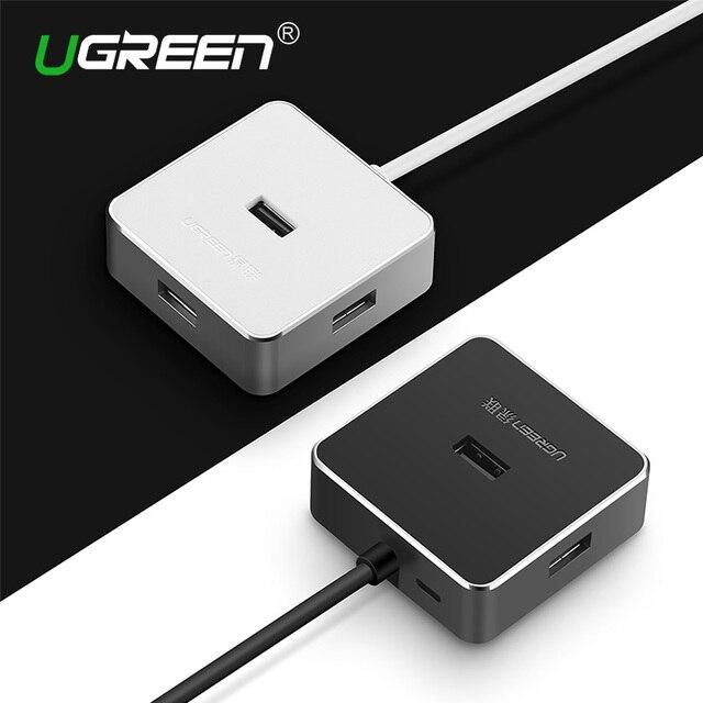 Ugreen 4 puertos de alta velocidad usb 480 hub 480mbps usb 2.0 Hub USB Divisor para el Ordenador portátil PC Windows 10 Mac OS12.2
