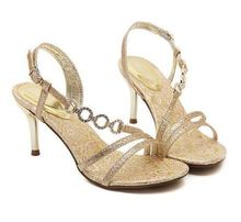 Size 4~8 Golden High Heel Shoes Elegant Party Women Shoes Women Pumps 2016 zapatos mujer