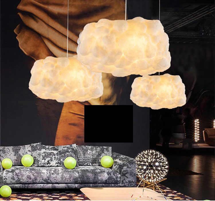Просто постмодерн Творческий хлопок облако люстра бар отеля кафе-бар Настольный светильник магазин одежды декоративные облако Люстра светодиодный