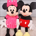 2015 Nuevo 1 Unidades 28 CM-30 CM Mini Encantadora Mickey Mouse Y Minnie Mouse de Peluche Juguetes de Peluche Suave Regalos de navidad