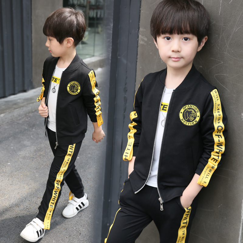 3 PCS Boy Tracksuits Costume Spring Baby Boys Clothing Sets Kids Sports Suit  6 12 Y Kids Clothes Suit Clothing Toddler Onesie