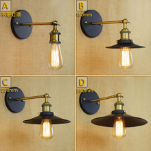Vintage loft retro industrial sconce wall lamp Stair Antique Lamp American Stytle warehouse bar cafe wall light Deco Lighting