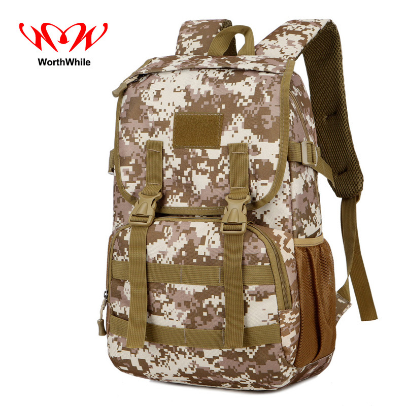 WorthWhile Military Tactical Backpack Multifunction Large Capacity Waterproof Nylon Bag for Outdoor Climbing HikingTravelling 35l waterproof tactical backpack military multifunction high capacity hike camouflage travel backpack mochila molle system