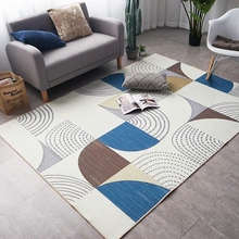 INS popular  Geometric Dots & Boxes Pattern Area Rug ,big size living room carpet, Nordic decoration mat