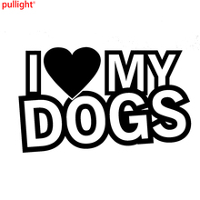 Car Styling I Love My Dogs Funny Car Novelty Window Bumper Vinyl Decal Sticker spiders web car window sticker vinyl decal funny novelty bumper sticker