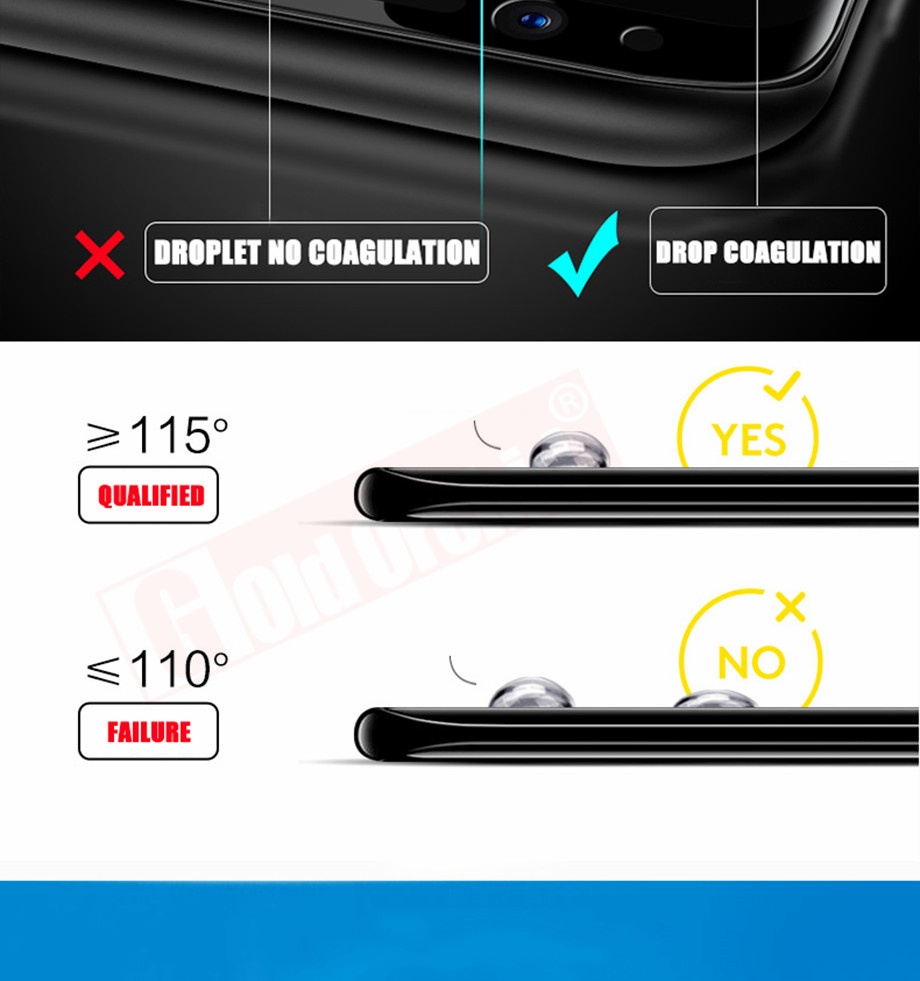 9-PC-For Samsung Galaxy S8 Tempered Glass For Samsung Note 8 S9 Screen Protector Film