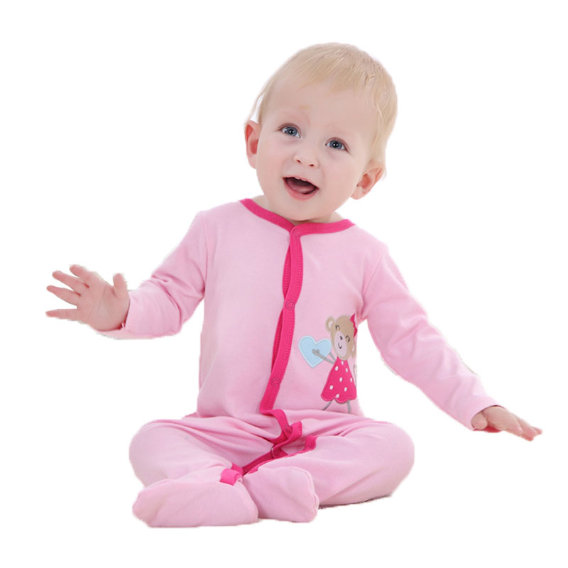 New Fashion Baby Romper Cartoon Body Suit Long Sleeve Newborn Clothing Kids Boys Girls Jumpsuit Baby Clothes Roupa Infantil 0-12 newborn baby girls rompers 100% cotton long sleeve angel wings leisure body suit clothing toddler jumpsuit infant boys clothes