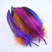 20pcs/lot colored Duck feather party decorations natural feathers for crafts DIY jewelry making Home plumas decor