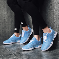 2019 Unisex Sneakers for Women Breathable Summer Air Mesh Tennis Shoes+Woman Classic Cushioning Women's Sneakers Big Size 36 45