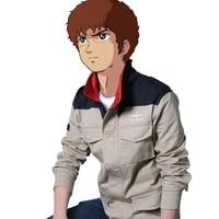 Anime! Mobile Suit Gundam Unicorn Londo Bell Long Sleeve Shirt Uniform Jacket Cosplay Costume Free Shipping