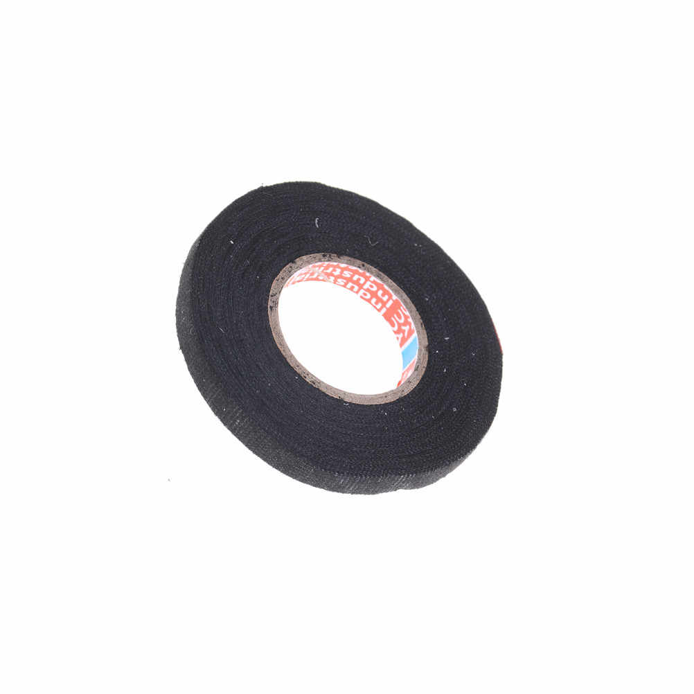 Detail Feedback Questions About 1pc 9mmx15m Looms Wiring Harness Black Cloth Tape Fabric Adhesive Cable Protection Heat Resistant