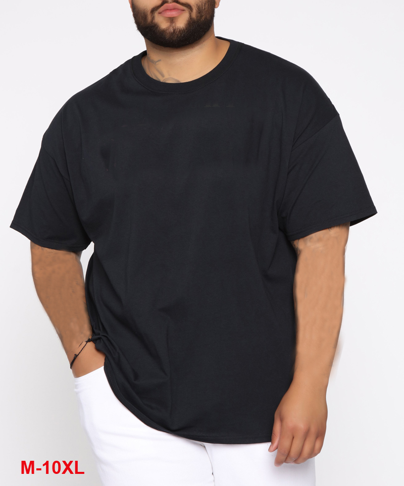 Big Size Men T-shirts Short Sleeve Summer Plus Size Tees Cotton Home Tshirt Tops Over Size Casual T Shirt <font><b>6XL</b></font> <font><b>7XL</b></font> <font><b>8XL</b></font> 9XL 10XL image