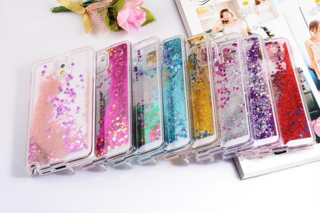 official photos 6f898 fb013 US $2.21 5% OFF|Hot Dynamic Water Liquid Glitter Sand Quicksand Star Case  For Samsung Galaxy Note 3 N9000 Clear Hard Plastic Cover Phone Cases-in ...