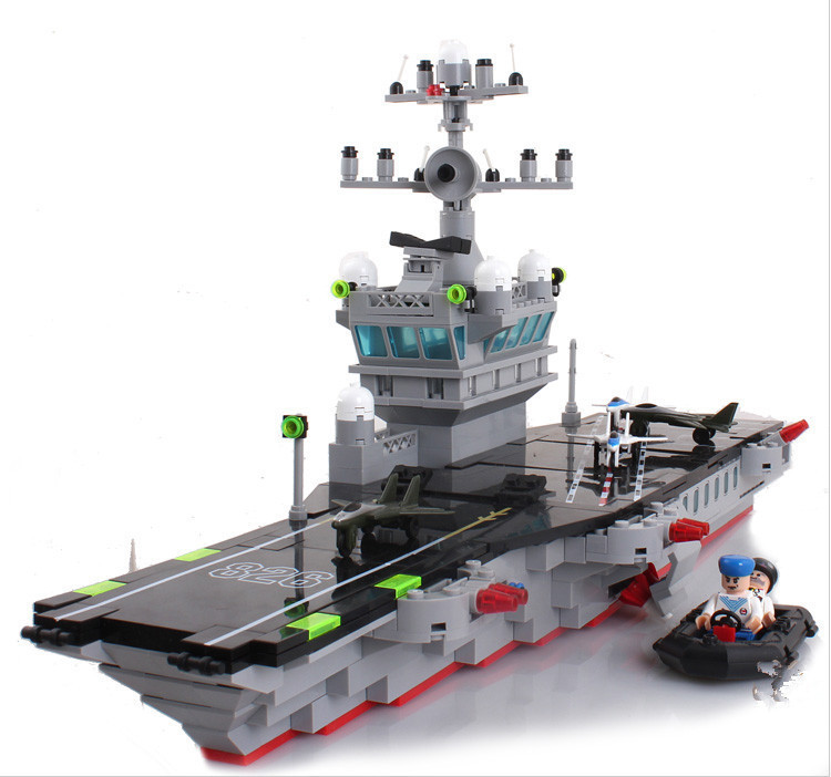 Legoe Compatible Enlighten Bricks Military Aircraft Carrier Model Building Blocks Educational DIY Toys For Children figures aircraft carrier ship military army model building blocks compatible with legoelie playmobil educational toys for children b0388