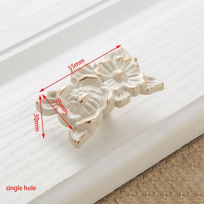 KAK цинк Aolly цвета слоновой кости ручки для шкафа кухонный шкаф дверные ручки для выдвижных ящиков Европейская мода оборудование для обработки мебели - Цвет: Handle-8823