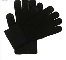 Autumn and winter Men and women full finger Fashion touch Imitation of cashmere knited keep warm Gloves & Mittens K027