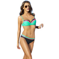 Ariel Sarah Brand 2017 Hot Selling Sexy Spell Color Bikini Swimsuit Fashion Swimwear Women Super Push