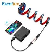 LED ストリップライト RGB バッテリ駆動 5050 Bluetooth ストリップアプリ制御/17 キー USB Led ストリップダイオードテープ bycicle 、スケートボード