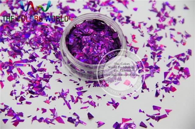 TCA800 Holographic Purple Color Mylar Sheet Random Cut Size Flakes ...