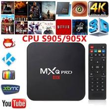 MXQ PRO Android 6.0 TV Box AmlogicS905X/S905 Quad Core Ram 1 GB ROM 8 GB KODI 17.1 4 K 2.4G WiFi Smart Tv Box Media Player pk x96