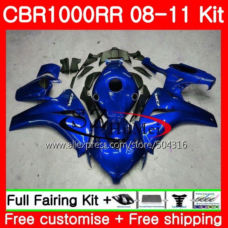Bodys For HONDA glossy blue CBR1000 RR CBR 1000 RR 08 11 59HS22 CBR1000RR 08 09 10 11 CBR 1000RR 2008 2009 2010 2011 Fairings