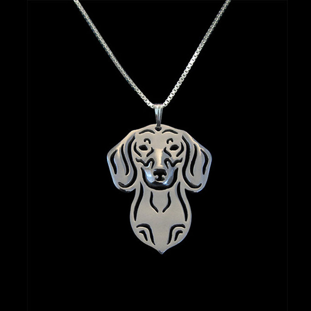 Boho Dachshund Necklace