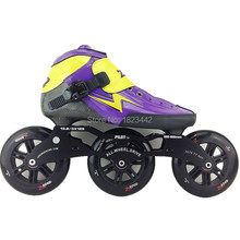 ZODOR inline skating shoes Professional adult child speed skates skating shoes 3 120mm skating wheels