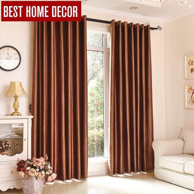 Beste home decor afgewerkt draps venster verduisterende gordijnen ...