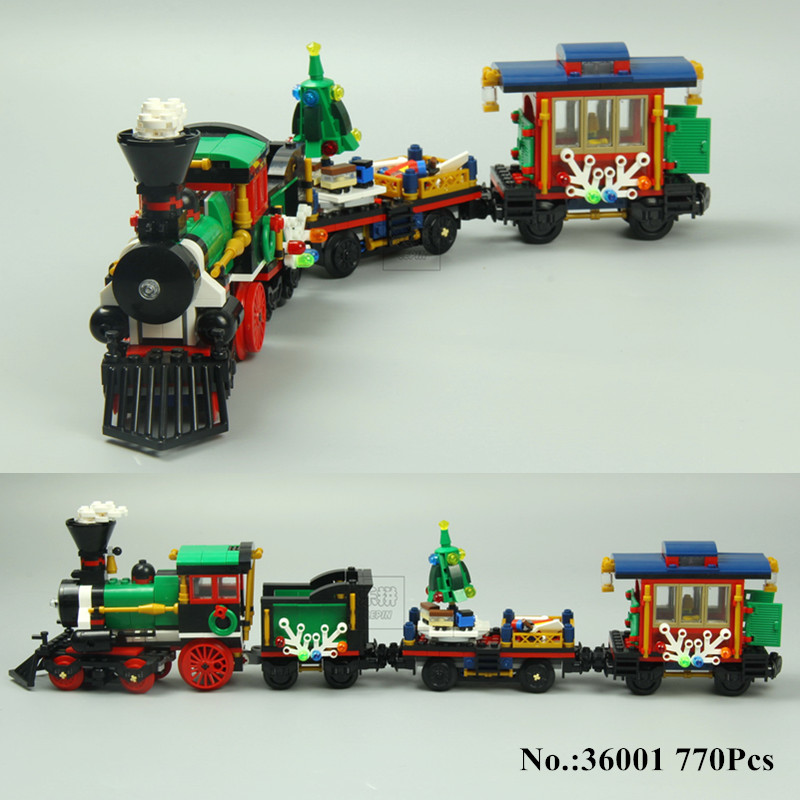 H&HXY IN STOCK 36001 770 PCS Winter Holiday Train Building Bricks Blocks New year LEPIN Gift Toys Children educational 10254 new in stock ve j62 iy vi j62 iy