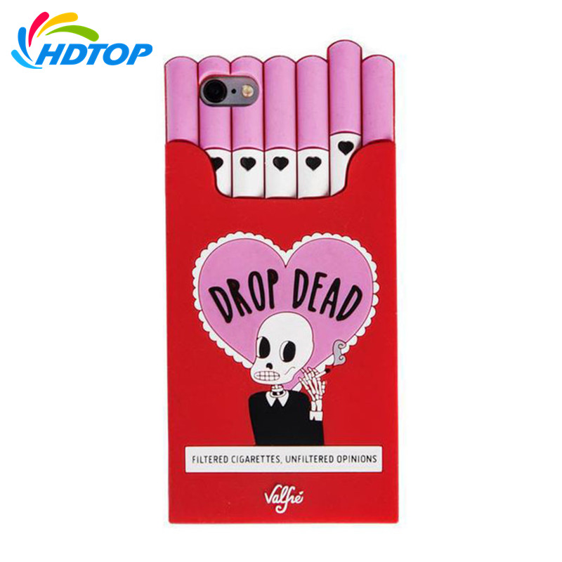HDTOP 3D Cartoon Red Box Soft Silicone Case for iPhone X 6 6S Plus 7 8 7Plus 8Plus