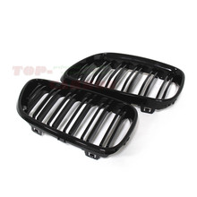 For BMW 2 Series F22 F23 Coupe & Convertible 2014 2015 2016 Dual Slats Plastic ABS Front Grille Glossy Black Finish